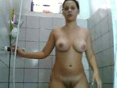 Mulher Melancia de Santarém Depois da Foda Tomando Banho Gostoso-Porno Caseiro Parte 2