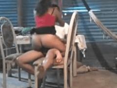 Flagra Real Sensacional da Sua Vizinha Metendo com Namorado Sendo Filmada de Camarote