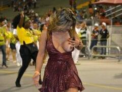 Caiu na Net  Márcia Imperator Mostra Os Peitos Em Ensaio da Escola Samba Unidos do Peruche
