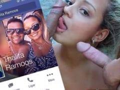 Contribuição Caseira Nacional – Vazou no WhatsApp Fotos Amadoras de Thalita Ramos em Orgia