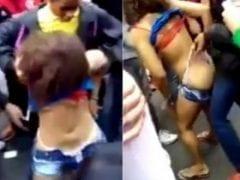 Novinha Muito Safada e Chapada Foi Quase Estuprada Em Baile Funk em Comunidade do RJ