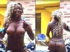 Adélia do Big Brother Brasil 16 Fica Chapada em Festa e Se Exibe Praticamente Nua Em Frente as Câmeras