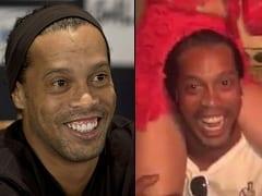 Ronaldinho Gaúcho Ficou Bêbado em Boate no RJ e Colocou Uma Piranha Nas Costas Enquanto um Colega Seu Filmava a Cena