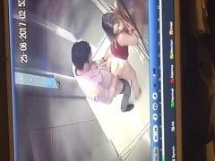 Casal Tarado Foi Flagrado Por Câmeras de Segurança Dando Uma Rapidinha no Elevador e Porteiro Puxou as Imagens Pra Jogar na Web – Flagra Amador