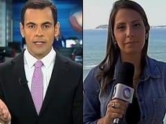 Tino Jornalista da Record Deu em Cima da Repórter Fernanda ao Vivo e Descaradamente, Deixando a Gata Toda Sem Jeito – Caiu na Net