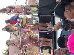 Carnaval 2018: Gostosas Ficaram Nuas, Apenas Com os Corpos Pintados em Cima de Trio Elétrico Rebolando Com Talento em Público no Carnaval de Salvador BA – Caiu na Net
