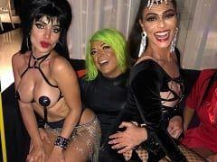 Anitta Fez Festa de Halloween Com Vários Famosos e a Putaria Rolou Solta Com Ela de Seios à Mostra
