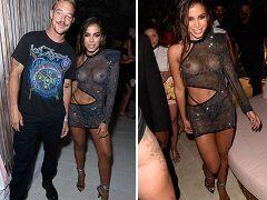 """Anitta mostrou os peitos em festa de lançamento do seu single """"Girl from Rio"""" em Miami Beach"""